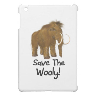 """Save The Wooly"" Wooly Mammoth iPad Mini Cases"