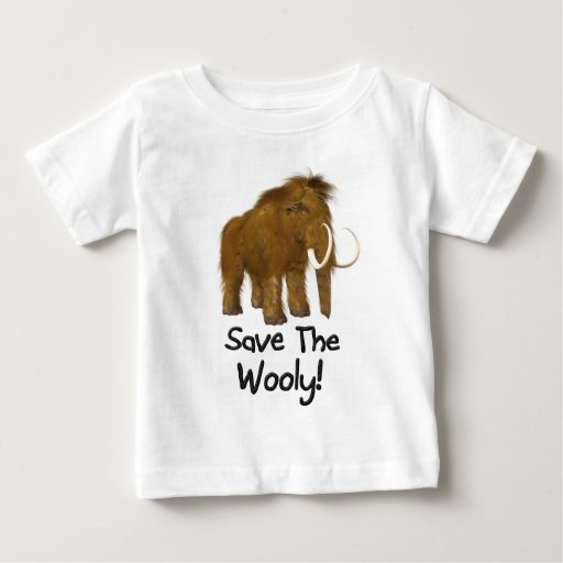 """""""Save The Wooly"""" Wooly Mammoth T Shirt"""
