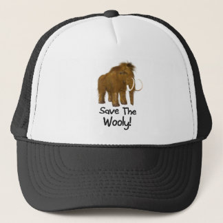 """Save The Wooly"" Wooly Mammoth Trucker Hat"