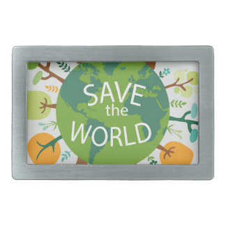 SAVE THE WORLD BELT BUCKLE