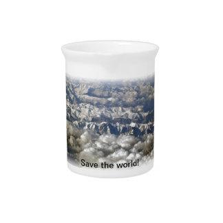 Save the world! beverage pitcher