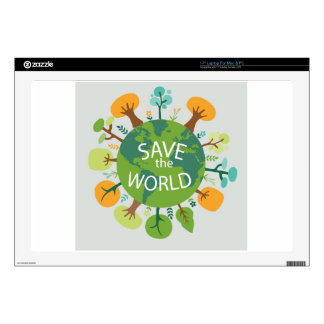 SAVE THE WORLD DECAL FOR LAPTOP