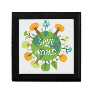 SAVE THE WORLD TRINKET BOX