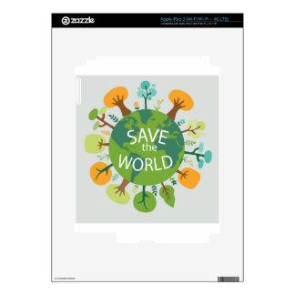 SAVE THE WORLD iPad 3 DECAL