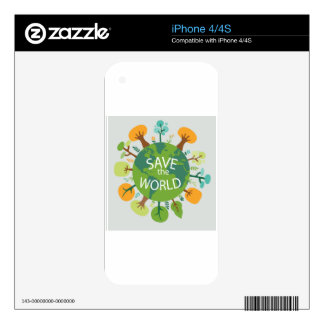 SAVE THE WORLD iPhone 4S SKIN