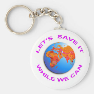 Save the World Keychain