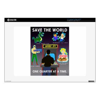 Save The World Laptop Skins