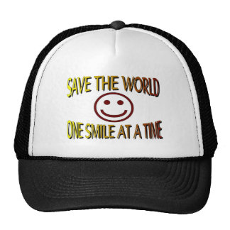 """""""Save the World - One Smile at a Time"""" Trucker Hat"""