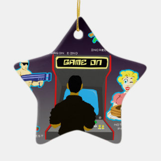 Save The World Double-Sided Star Ceramic Christmas Ornament