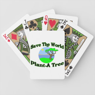 Save The World Plant A Tree Bicycle Playing Cards