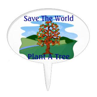 Save The World Plant A Tree Cake Picks