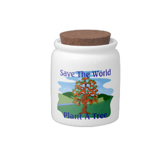 Save The World Plant A Tree Candy Jar