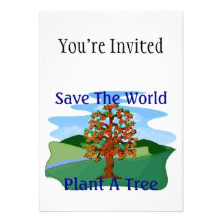 Save The World Plant A Tree Invite
