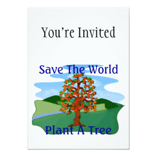 Save The World Plant A Tree Invite