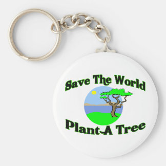 Save The World Plant A Tree Keychains