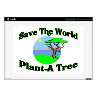 Save The World Plant A Tree Laptop Skins