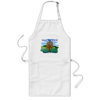 Save The World Plant A Tree Long Apron