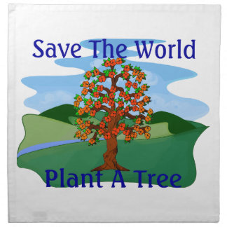 Save The World Plant A Tree Napkin