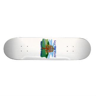 Save The World Plant A Tree Skateboard Deck