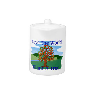 Save The World Plant A Tree Teapot