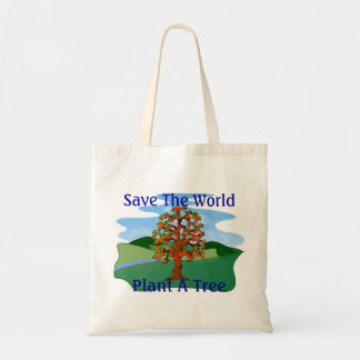 Save The World Plant A Tree Tote Bag