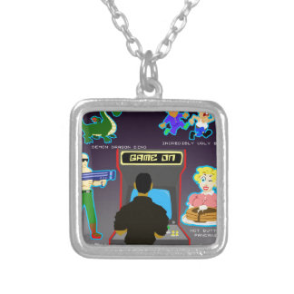 Save The World Silver Plated Necklace