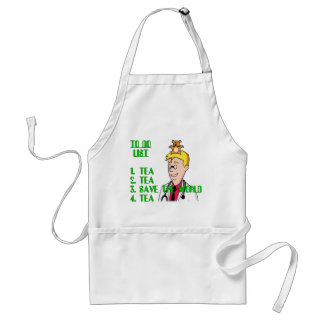 Save The World With Tea To Do List Adult Apron