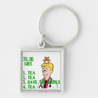 Save The World With Tea To Do List Keychain