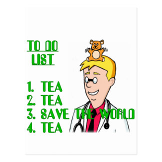 Save The World With Tea To Do List Postcard