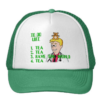 Save The World With Tea To Do List Trucker Hat