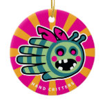 Hand shaped Save the Zombie bee! Ceramic Ornament