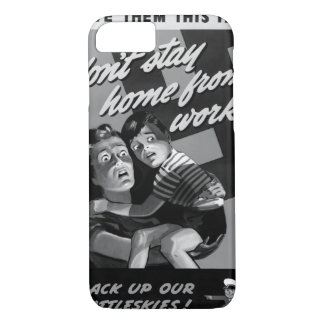 Save them this fate/don't stay home_War image iPhone 8/7 Case