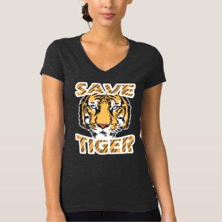 Save Tiger Women's Bella+Canvas Ringer T-Shirt