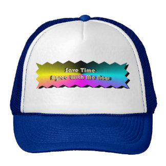 Save Time Agree With Me Now Cap Trucker Hat