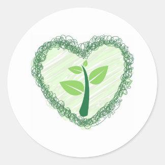 save tree classic round sticker