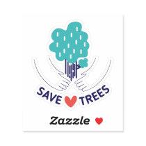 Save Trees Custom Shape Sticker