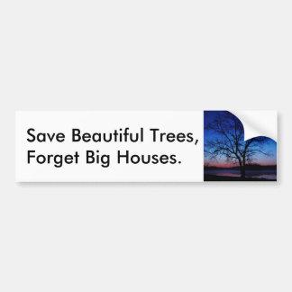 Save trees Oak sunrise Bumper Sticker