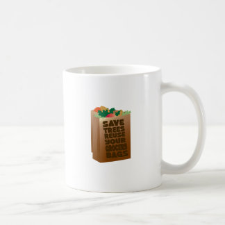 Save Trees Reuse Your Grocery Bags Classic White Coffee Mug