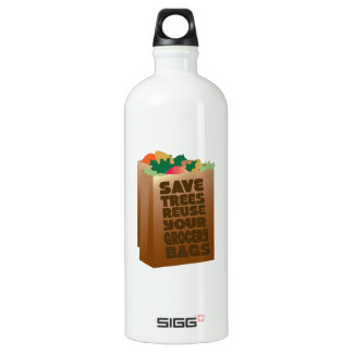 Save Trees Reuse Your Grocery Bags SIGG Traveler 1.0L Water Bottle