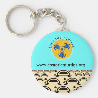 Save Turtles Key Ring Basic Round Button Keychain