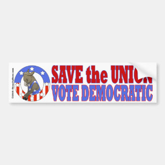 Save Union Vote DEM Bumper Stkr Bumper Sticker