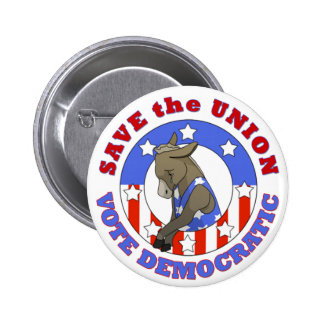 Save Union Vote DEM button