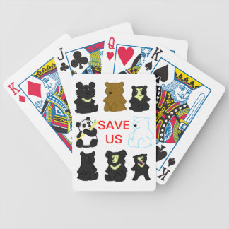 SAVE US 2014 ISBD BEARS BICYCLE PLAYING CARDS