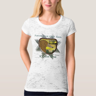Save Us From Oil Ladies Burnout Shirt