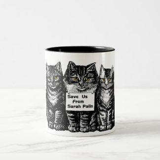 save us from sarah Two-Tone coffee mug