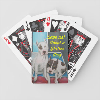 Save Us Shelter Dogs Playing Cards
