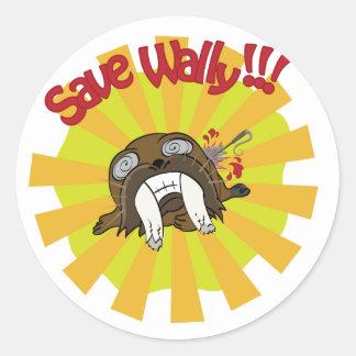 Save Wally Classic Round Sticker