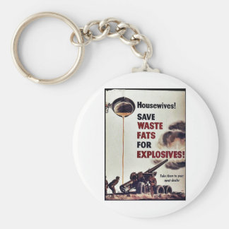 Save Waste Fats For Explosives! Key Chains