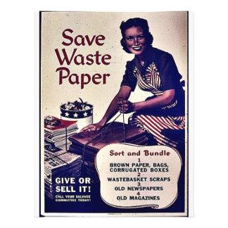 Save Waste Paper