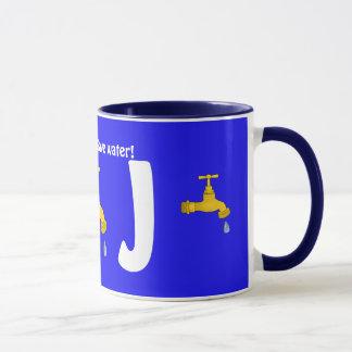 Save Water Alphabet Mug J